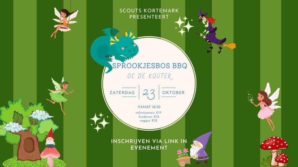 Sprookjesbos BBQ scouts Kortemark 2021